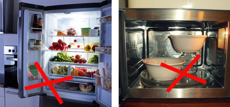 AVOID MICROWAVE AND REFRIGERATED FOOD